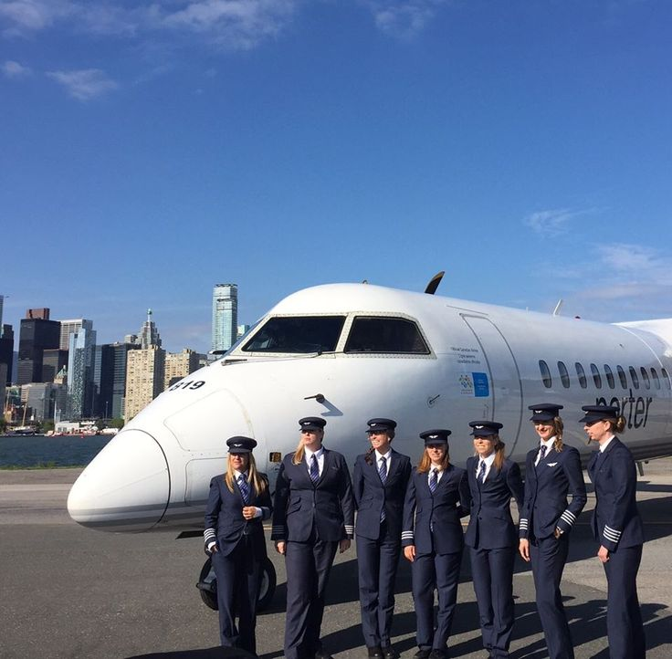 Just some of the female pilots who fly for Porter Airlines