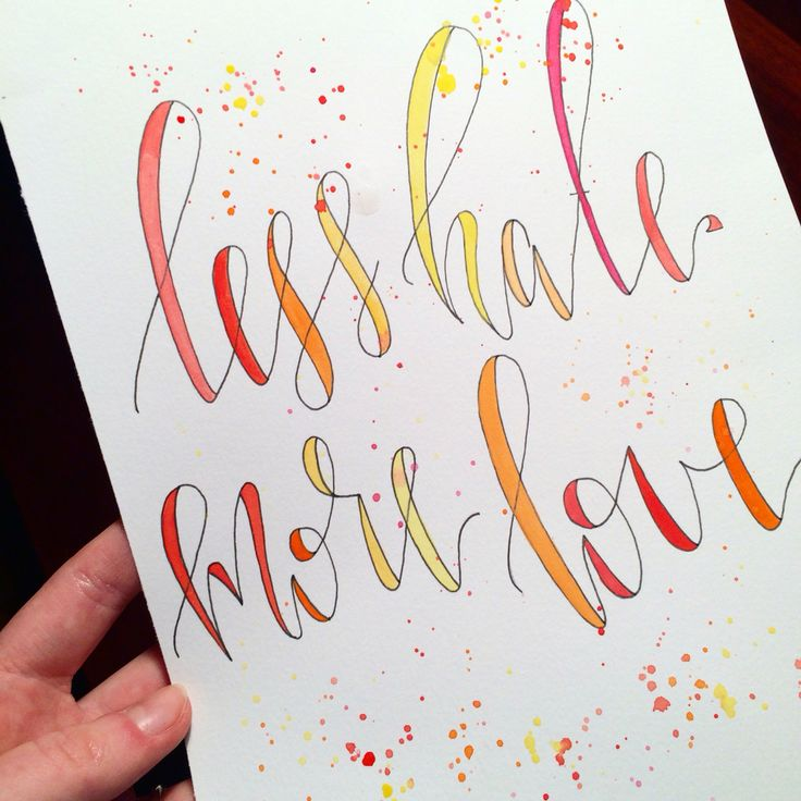 """Less Hate More Love"" Print"