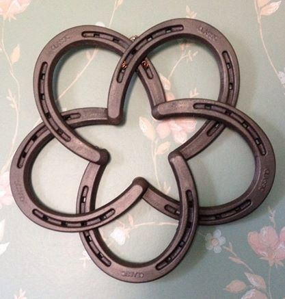 Authentic horse shoes from our farm in the heartland of America. Each Star is handmade in my shop. I learned to weld on my family ranch.  I am an