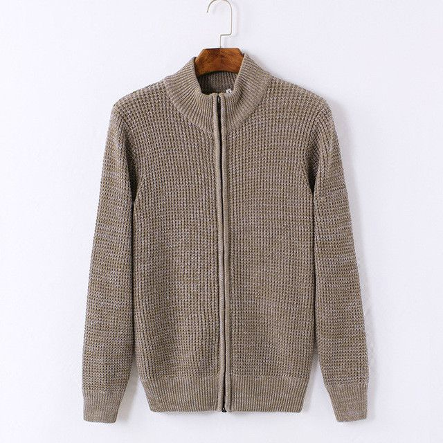 LiSENBAO Brand Wool Men's Cardigans Sweaters Zipper Men's Sweaters new fashion mens casual coat knitwear coat men clothing 1524