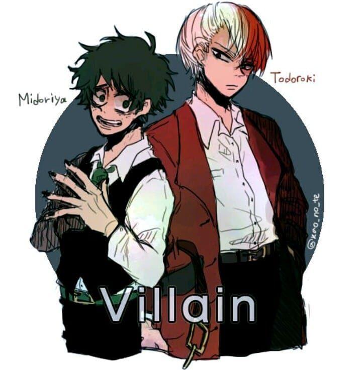 Bnha Izuku And Todoroki Villain Versions Villain Deku My Hero Academia Manga My Hero Academia