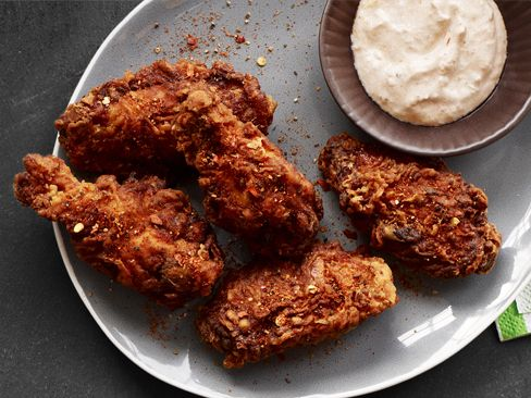 The Neelys' Spicy Fried Wings #BigGameSpicy Fried Chicken, Food Network, Fries Wings, Fries Chicken, Wings Recipe, Chickenwings, Spicy Fries, Fried Chicken Wings, Food Recipe