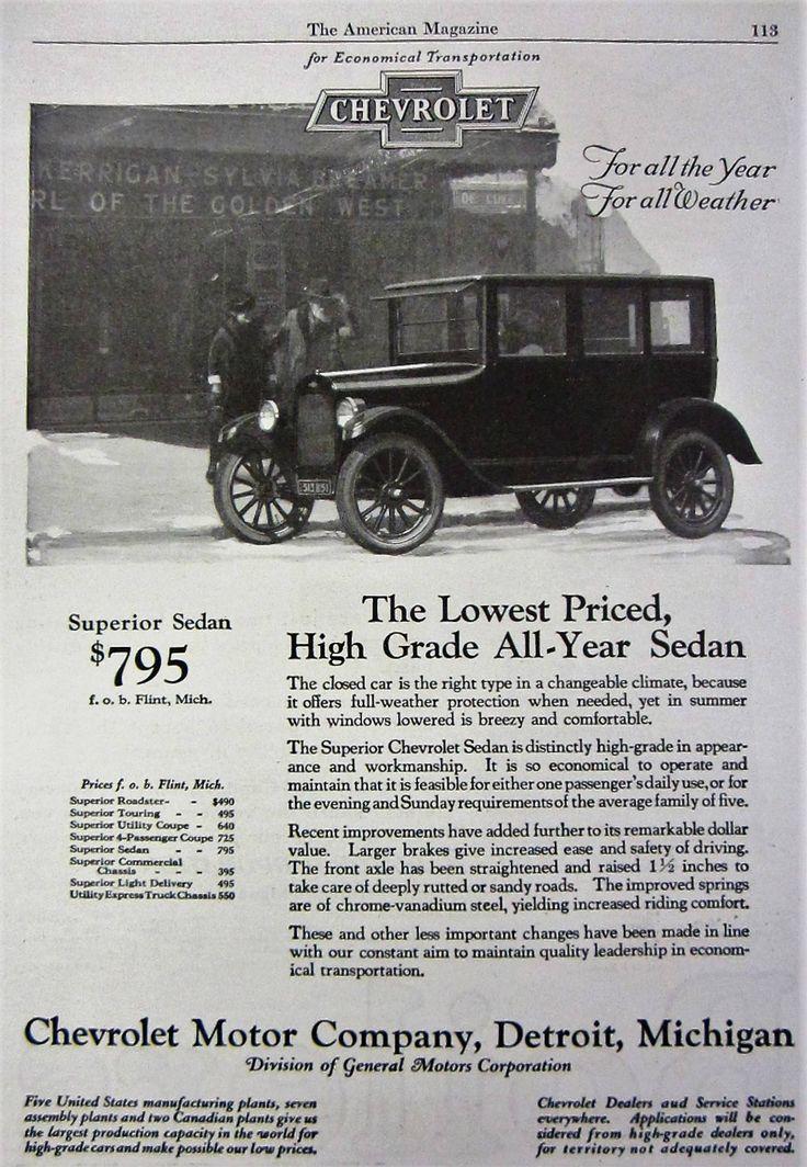 1924 Chevrolet Sedan Vintage Advertisement Old Automobile Antique Car Magazine Print Ad Automotive Wall Art Man Cave Decor General Motors by RelicEclectic on Etsy