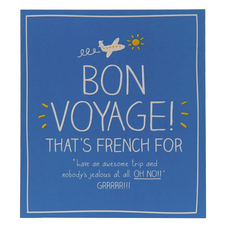 Happy Jackson Bon Voyage Card