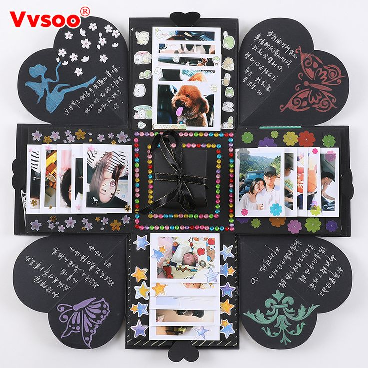 New Explosion Surprise Box Scrapbook DIY Photo Album with Funny Kit Birthday Anniversary Valentine Wedding Gift Party Favor. Yesterday's price: US $14.35 (11.69 EUR). Today's price: US $6.17 (5.06 EUR). Discount: 57%.