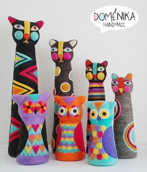 "Eugenia Ramos Psijas of ""Doménika Handmade"" makes beautiful needle felted sculptures."