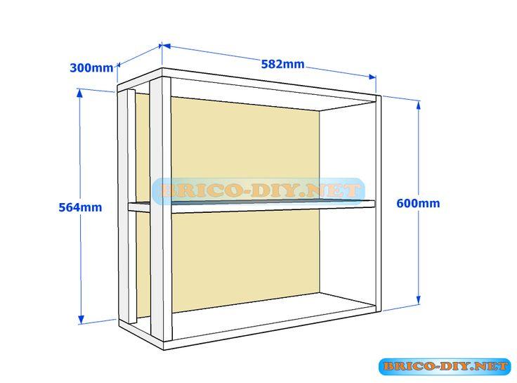 Muebles de cocina plano de alacena de melamina esquinera for Mesa esquinera cocina sodimac