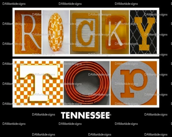 University+of+Tennessee+Rocky+Top+Framed+by+DAMartndesigns+on+Etsy,+$35.00