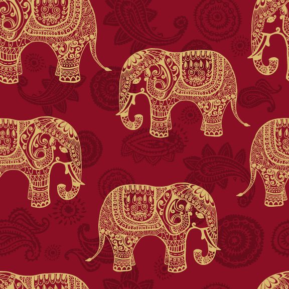 Paisley Elephants| Removable Wallpaper| WallsNeedLove|maybe for the guests bathroom for a feature wall