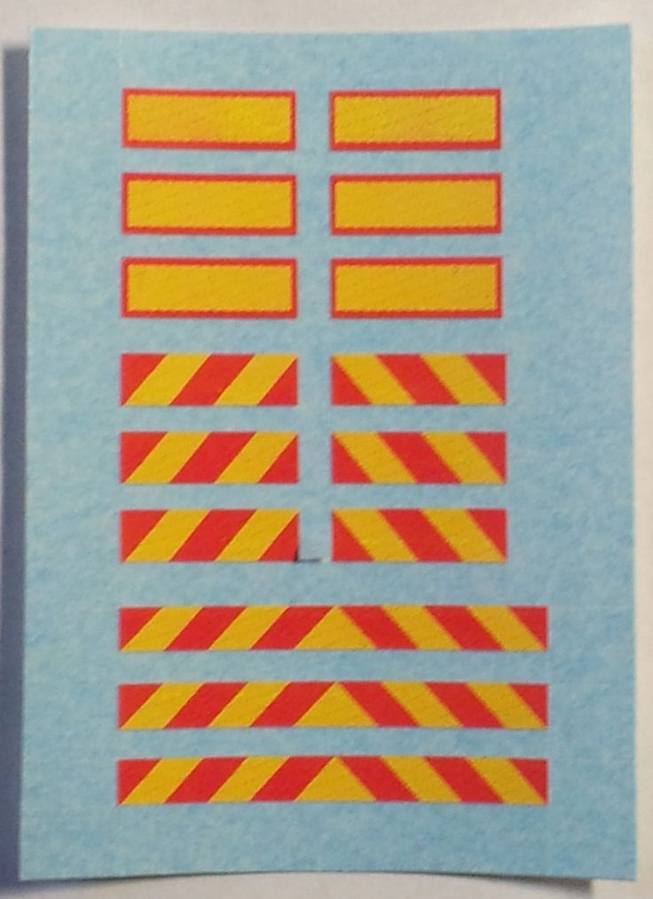"""1/76 """"CHEVRON MARKER BOARDS"""" for Lorry/Truck Trailers etc, (mixed set of 15)   eBay"""
