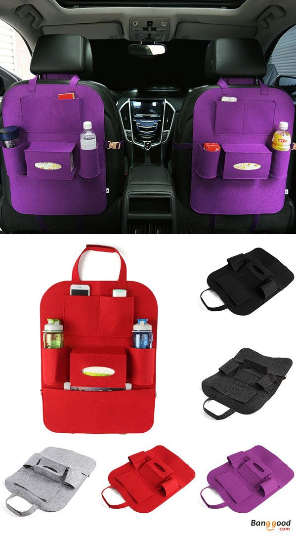 US$6.29 + Free shipping. Auto car seat storage bag hanger, car seat cover organizer, multi-function vehicle storage bag, car storage bag. Using felt material, environmental and healthy, no smell. Storage for Bottle, Magazine, Cup, Food, Bag, iPad, iPhone, Camera, etc. Multi-color selection, perfect for your car.