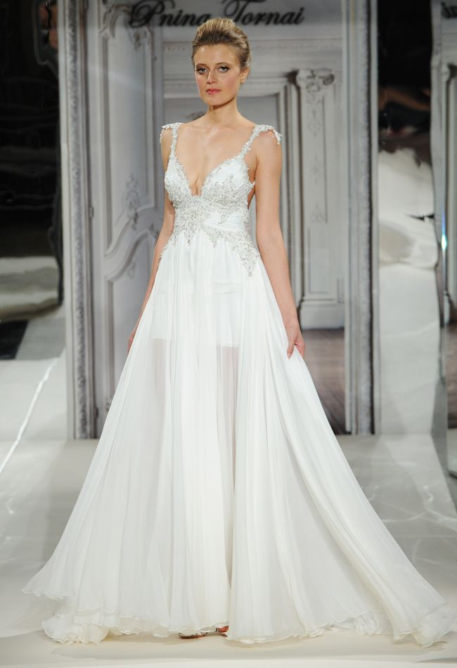 Cute Pnina Tornai Spring Wedding Dresses