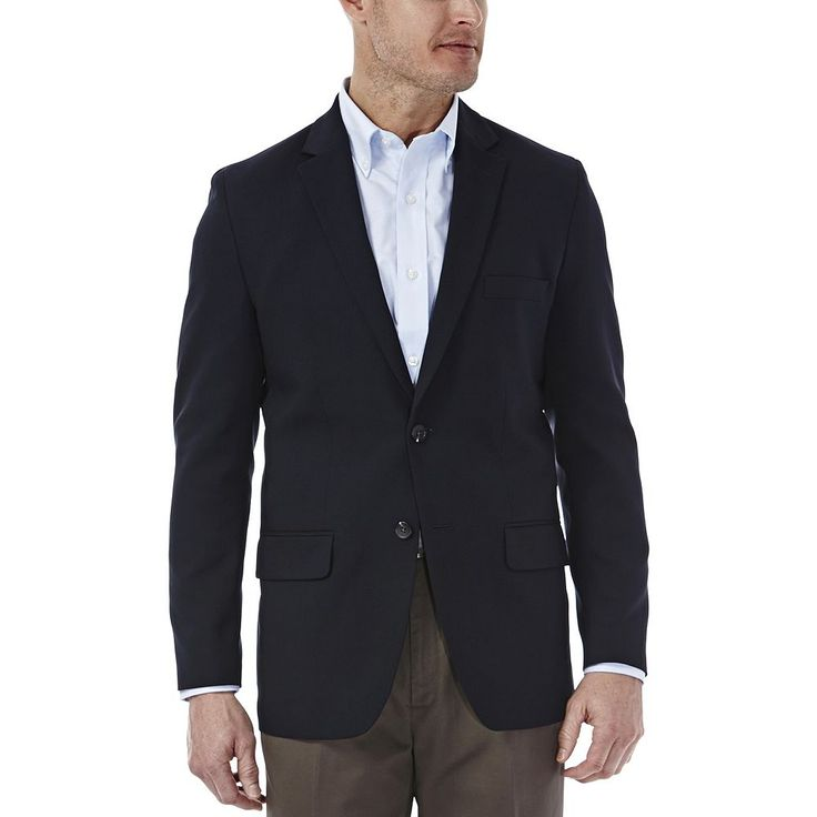 Men's Haggar In Motion Tailored-Fit Blazer, Size: 44 - regular, Blue (Navy)