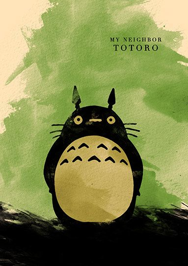 Hayao Miyazaki película minimalista cartel por moonposter en Etsy