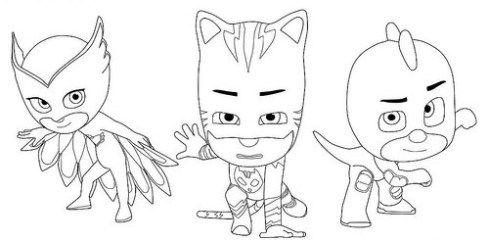 Dibujos de PJ Masks: Imágenes de Héroes en Pijamas para