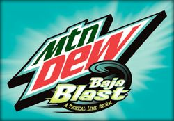 Jer always liked new Mt. Dew flavors. Taco Bell for this one.