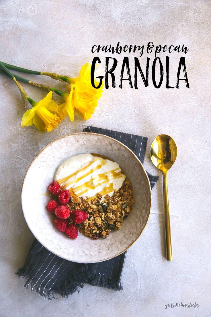 Cranberry And Pecan Granola  Grits & Chopsticks Healthy Salad Recipeshealthy  Foodsfall