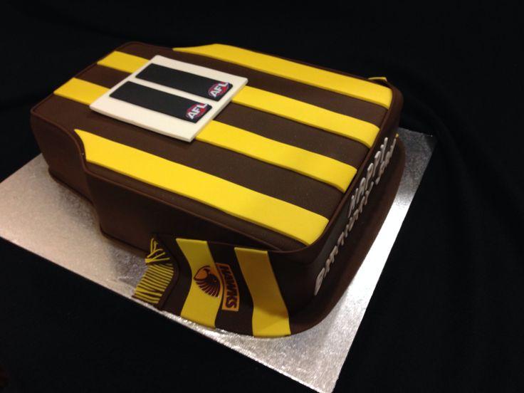 Hawthorn jersey birthday cake