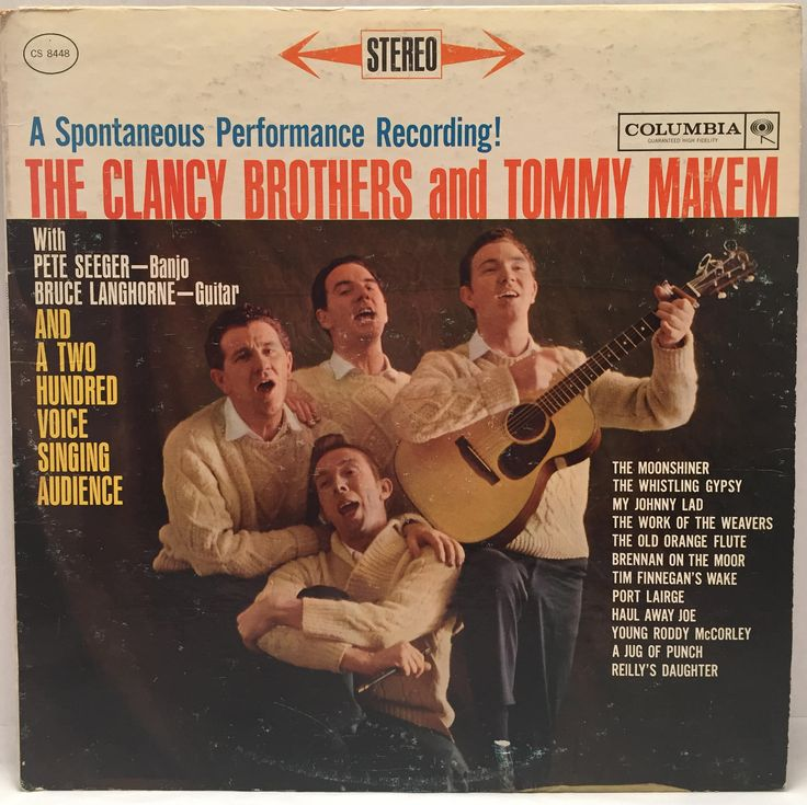 The Clancy Brothers & Tommy Makem with Pete Seeger, Bruce Langhorne - A Spontaneous Performance Recording LP Columbia Records 1962 CS-8448 by JackiesVintageFinds on Etsy