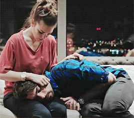 { open w/ Laney } He was upset.. his brother overdosed again. He lays his head in my lap, and closes his eyes. I calm him down by running my hand through his hair many times..