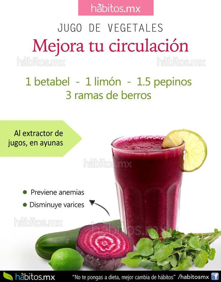 Hábitos Health Coaching   JUGO DE VEGETALES MEJORA TU CIRCULACIÓN