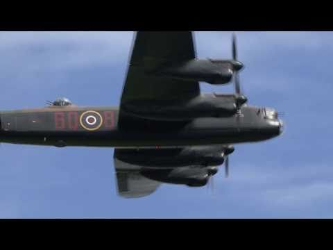 Avro Lancaster 'City of Lincoln'. 4 Rolls-Royce Merlin engines built at Crewe.