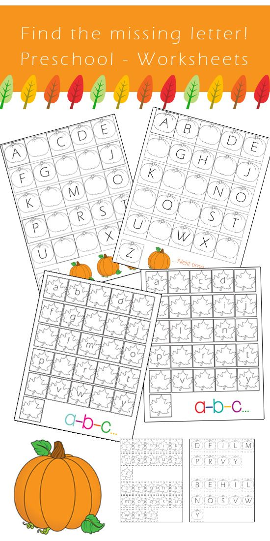 preschool alphabet worksheets  find the missing letter