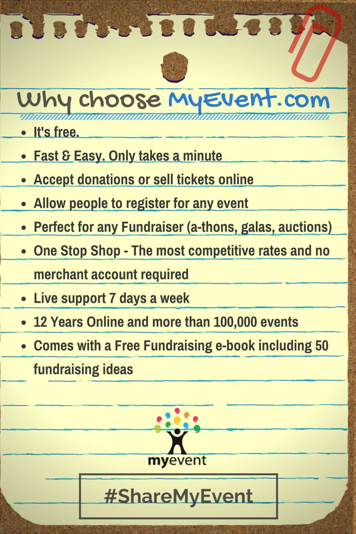 Why choose myevent.com #events #fundraising #classreunions #familyreunions #celebratios #personalevents #parties