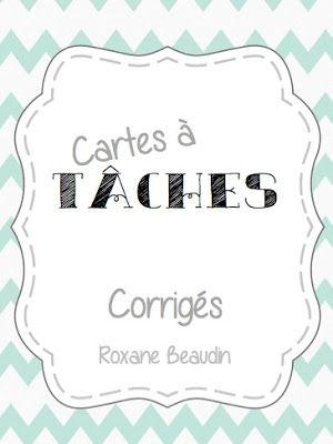 Les idées de Mme Roxane!: Vive les cartes à tâches!