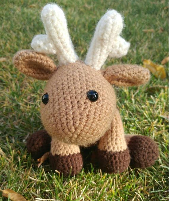 Martha the  Amigurumi Moose! #crochet #moose #canada #stuffed animal