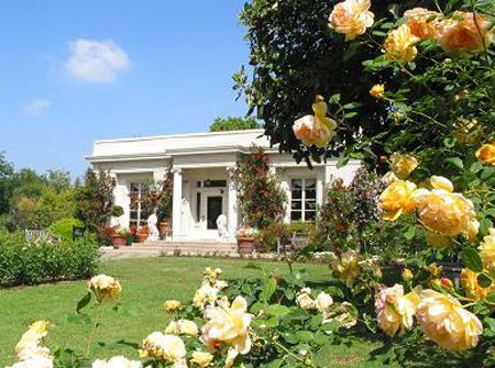 Tea Room at the Huntington Library & Botanical Gardens, San Marino, CA.  Set in the middle of a rose garden.