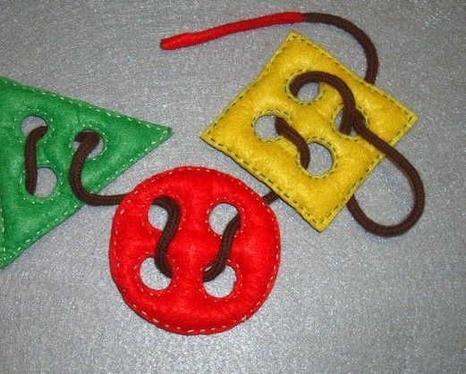 Educational felt toy Geometry