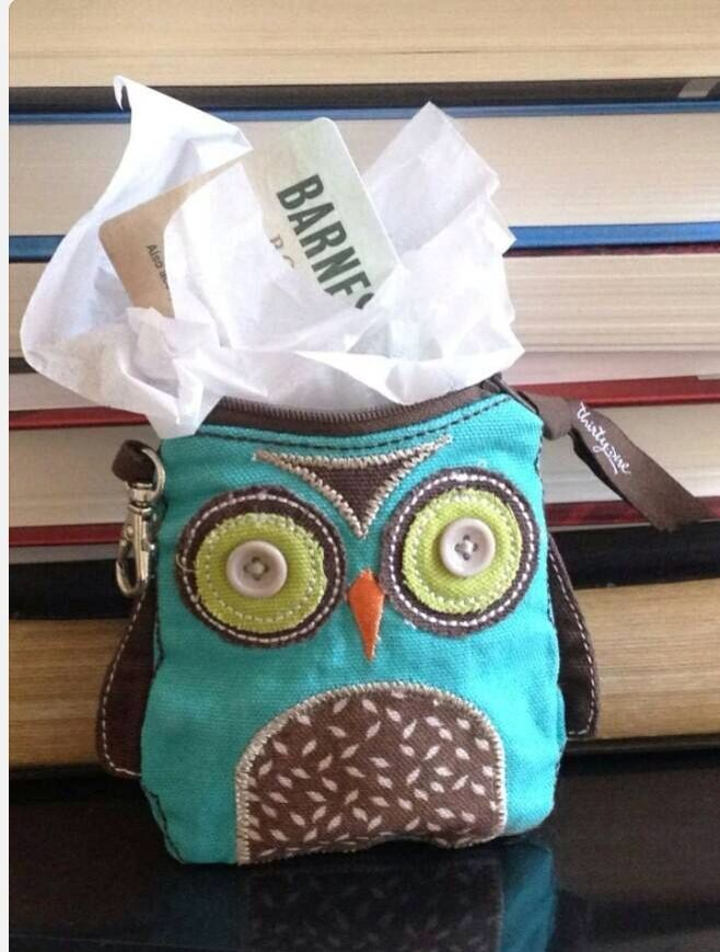 Owl Coin purse ... Use it as a gift card holder. :)  www.mythirtyone.com/janderson409
