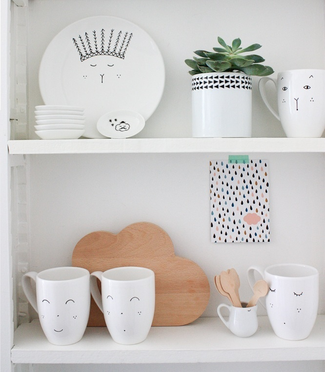 Paper Plane Home — collection Mamzelle titoo: Plates, Kitchens Stuff, Decoration Idea, Homes Good, Ceramics, N Cups, Idea Para, Paper Planes, Detal Para