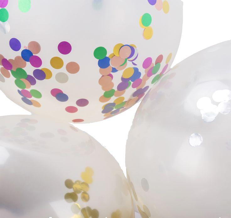 Confetti balloons multicolor confetti balloons gold confetti balloons silver confetti balloons