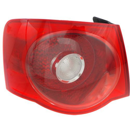 2005-2007 Volkswagen Jetta Tail Lamp LH, Outer, Assembly, Red Lens, Sedan