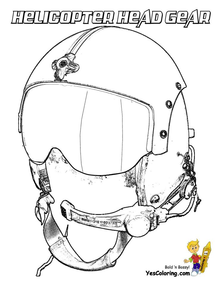 Print Out This Helicopter Pilot Coloring Page Cool Tell Other Kids Your