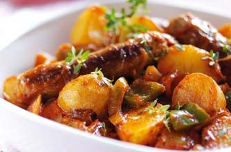 This cheap and easy sausage casserole is comfort food at its best. Not only is it filling, it's simple, uses just six ingredients and the kids will love it too! This recipe serves 4 people and will take approximately 35 mins to prepare and cook. This recipe is perfect if you're on a budget or feeding a lot of people in one go. It cuts down washing up as the casserole is made in just one pot. This easy sausage casserole recipe uses readymade sauce but you could swap it for homemade instead…