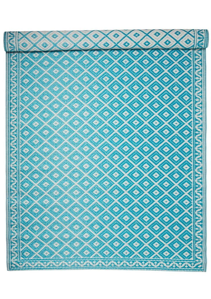 ROMBIC matta turkos | Plastic rug | Rug | Mattor | Inredning | INDISKA Shop Online