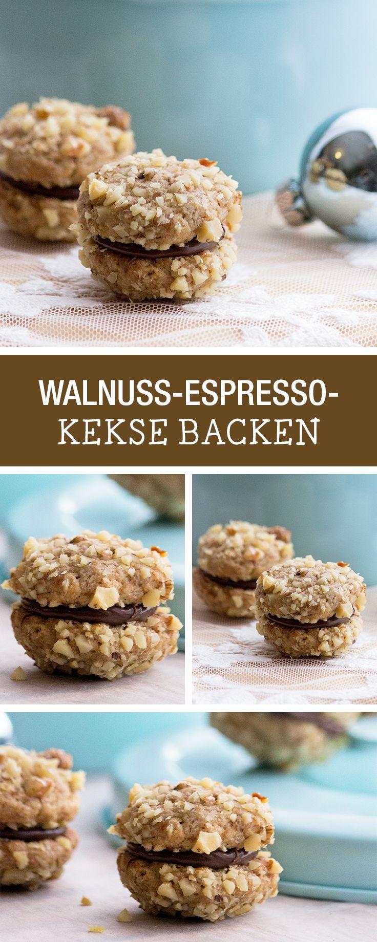Leckere Kekse mit Walnuss und Espresso backen / cookie recipe: walnut espresso biscuits via DaWanda.com