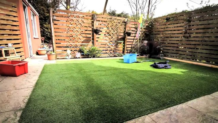 DIY How to lay an artificial grass lawn turf - Timelapse with music HD - YouTube