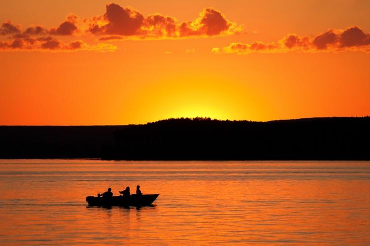 Fishing at sunset - Greig Lake, #Saskatchewan