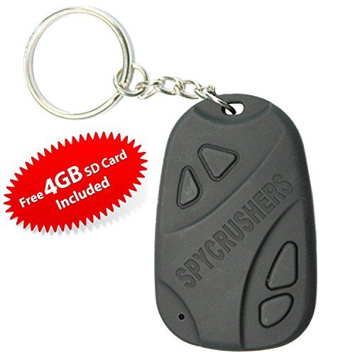 808 Camera Best Micro Keychain Camera & Hidden Spy Video Recorder Features Video Photo and Webcam Functionality Includes FREE 4GB High Speed Sd Card Satisfaction Guarantee