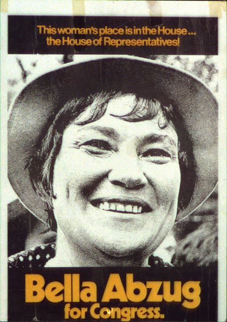 Bella Abzug served New York in the House of Representatives from 1971-1977. In the House, she helped pass the Equal Credit Opportunity Act of 1974 that prohibits discrimination against applicants on the basis of sex. In addition to the time she spent in Congress, she also was a lawyer, a founding member of the National Women's Political Caucus, a supporter of the Equal Rights Amendment, and a civil rights activist.