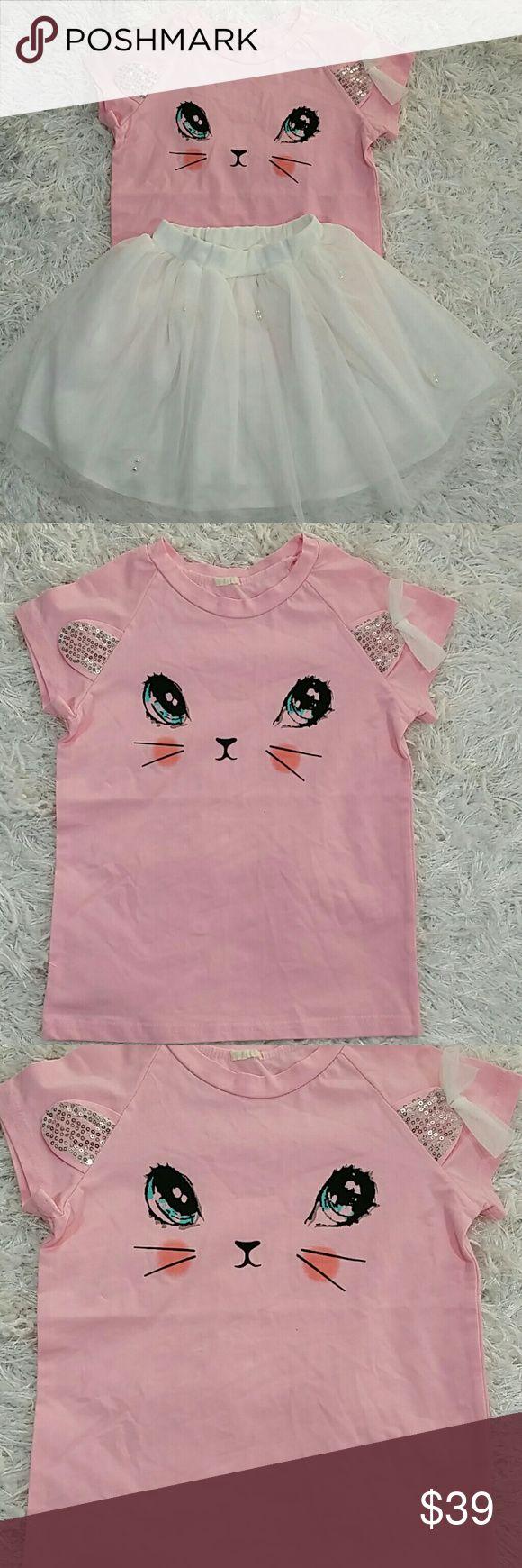 Shirt design app for pc - Pink And White 2 Pc Set Kitty Tutu Kids