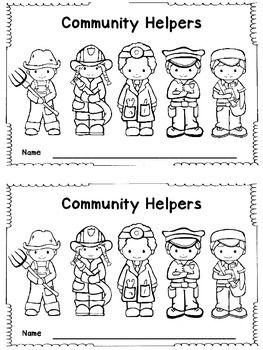 I hope this little booklet can help to supplement your community helper study. Helpers included are: artist, chef, construction worker, dentist, doctor, farmer, firefighter, hair stylist, mail carrier, nurse, police officer, teacher, vet.Community Helper PuppetsCommunity Helper Write The Room