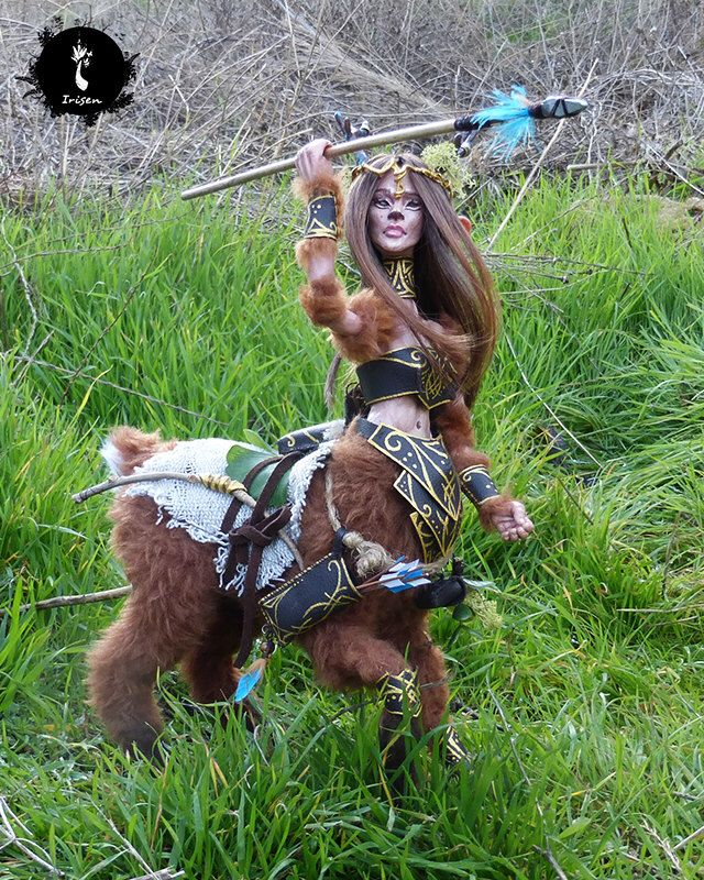 Elidral, female centaur explorer - ooak poseable art doll by IrisenOMW on Etsy https://www.etsy.com/listing/461307128/elidral-female-centaur-explorer-ooak