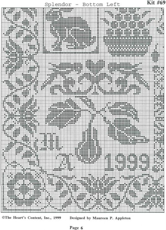 4495 best Filet crochet 5 images on Pinterest Embroidery, Punto - cross stitch graph paper