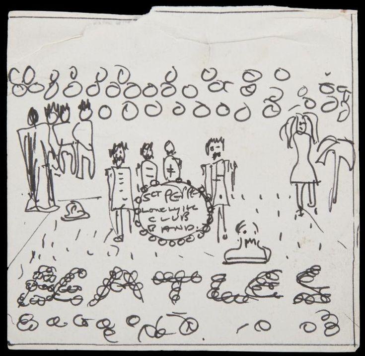 Auction for John Lennon's Sgt. Pepper album cover sketch