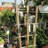 Dekoratív kerti kiegészítő a bambusz létra. kerteszetbudaors1